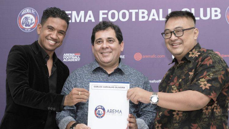 Arema FC Resmikan Carlos Carvalho De Oliveira Jadi Pelatih Baru